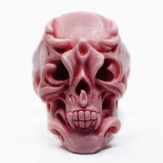 ORCHID SKULL RING by Macabre Gadgets | Pink marble  STORE-MACABREGADGETS.COM