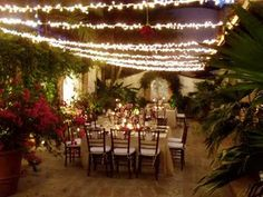 Wedding Celebration in the courtyard at Casa Quetzal. www.casabayvillas.com
