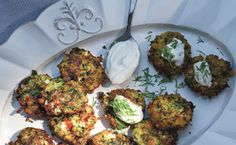Zucchini Keftedes with Feta and Dill / Hans Gissinger