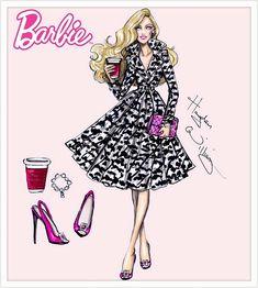 #Hayden Williams Fashion Illustrationer #Barbie Style af Hayden Williams: 'Trench Setter'