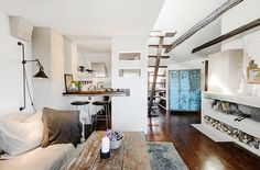 small space modern rustic