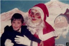 .Santa bears more than a passing resemblance to the Grim Reaper.