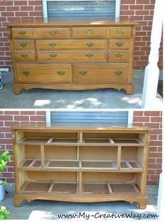 My Creative Way: Repurposed Dresser. Paint without Sanding. Tutorial