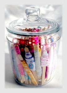 Easy Craft Ribbon Storage Jar Tutorial