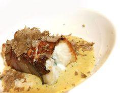 Spigola in porchetta con zuppa di carbonara e tartufo estivo - All'Oro - Roma