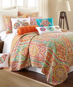 Look at this Casablanca Bright Quilt Set on #zulily today!
