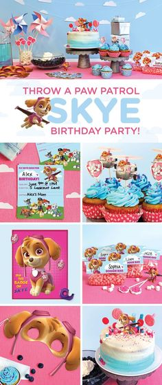 Planning a Skye PAW Patrol birthday party for your preschooler? This simple, step-by-step guide will transform your home into a cloud-, helicopter-, and pink-and-blue-filled wonderland! Make your child's wishes come true with the PAW Patrol birthday party