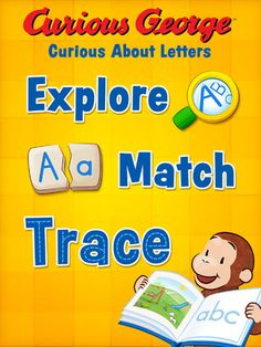 Curious George's Curious About Letters is the newest app from Houghton Mifflin Harcourt! Available now on the iPad in the Apple iTunes App Store!