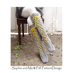 Paid pattern Ravelry: Laced Knee-High Socks pattern by Sophie and Me-Ingunn Santini