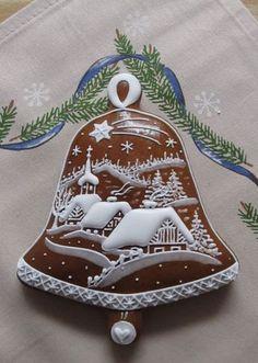 chaloupky z vánoční utěrky Christmas Sugar Cookies, Christmas Sweets, Christmas Goodies, Holiday Cookies, Christmas Baking, Gingerbread Cookies, Fancy Cookies, Iced Cookies, Cute Cookies