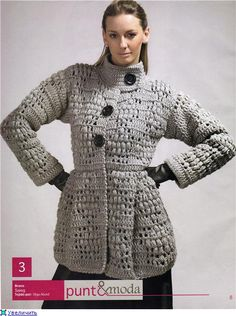 CARDIGAN CROCHET ♪ ♪ ... #inspiration_crochet #diy GB http://www.pinterest.com/gigibrazil/boards/