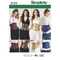 Simplicity Pattern 8129 Misses' Easy Waist Cincher Corsets