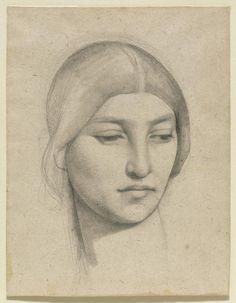 Pierre Puvis de Chavannes, Study of a Womans Head 1865