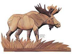 Free Intarsia Patterns   Bull Moose in the Grass Intarsia Pattern