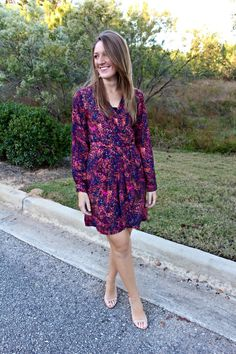My friend got this in her stitch fix box and I adore this dress! So much that I even borrowed it. I love the colors and the fit. Collective Concepts Elisa Faux Wrap Dress