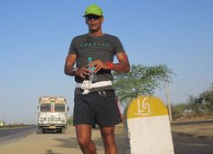 Milind Soman is running 1,500 km from Delhi to Mumbai to raise awareness over environmental issues.