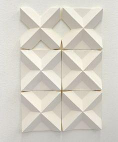 3D wall installation ( #tiles ) by Agnieszka Robak 2016