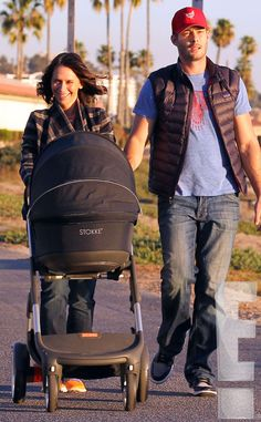 Jennifer Love Hewitt Out With Baby Autumn and Husband Brian Hallisay: See First Photos of the Star Since Daughter's Birth as they stroll with their Stokke Crusi stroller