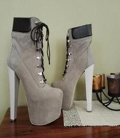 e2a55c85700 Lace Up Timber Booties Platform High Heels