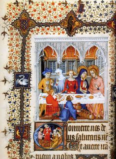 The marriage at Cana from the Grandes heures de Jean de Berry, commissioned in 1407, completed in 1409