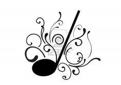 Abstracte illustratie van een muziek noot Stockfoto - 7718423