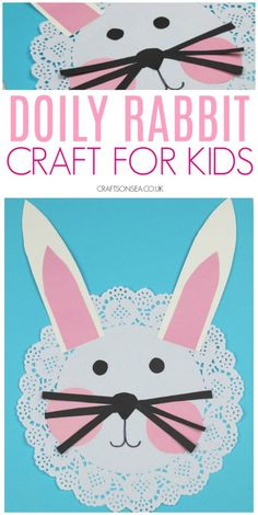 Easy Doily Rabbit Craft for Kids Possibly the cutest rabbit craft for kids? Perfect for spring or as a sweet Easter craft for kids this cute bunny is simple to make and only costs pennies. Perfect for toddlers, preschool or older kids too Rabbit Crafts, Bunny Crafts, Toddler Crafts, Preschool Crafts, Kids Crafts, Craft Projects, Clay Crafts, Felt Crafts, Easter Fabric