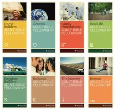 Book / brochure cover - series using colour and typography