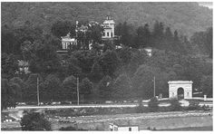 """NYC (Inwood-upper Manhattan). For nearly a century, the huge Seaman-Drake estate, constructed in 1855 by John T. Seaman, stood on the grounds now occupied by Park Terrace Gardens. Famous for its fanciful gate at the bottom of the hill, actually a scale model of the Arc de Triomphe, the home quickly earned the nickname """"Seaman's Folly."""""""