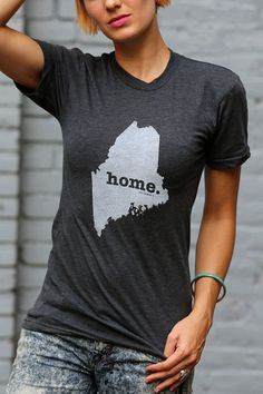 Maine+Home+TShirt+by+TheHomeT+on+Etsy,+$20.00