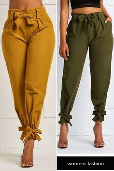b4edee628ec Bowknot Plain Women s Pencil Pants pants fashion womens pants   fashionforwomeneveryday Pallazo Pants