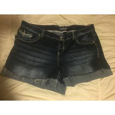 Plus Size Jean Shorts Plus sized jean shorts made to look fringe/ cut off. Super stylish and comfortable! Amethyst Shorts Jean Shorts