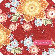 Flutter Red Large Floral Yardage SKU# C3130-RED Riley Blake designs at fat quarter shop