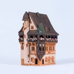 Ceramic candle holder - Pfister house in Colmar, France. Handmade by Midene (B245) by MideneDesignStudio on Etsy