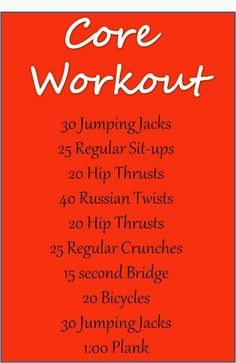 Core workout  #HAWA