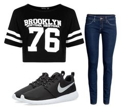 """Untitled #5"" by kfuller89 on Polyvore featuring Boohoo, H&M and NIKE"