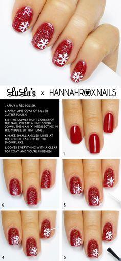 Cute holiday nails. Nail polish ideas