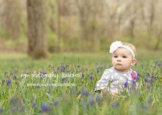 Bluebonnet photos, baby photography, Spring photos - www.egmphotography.com, Central PA Photographer and vendor of Organic Bloom Frames