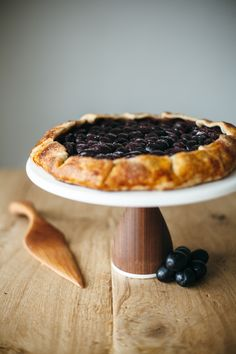 peanut butter and grape galette