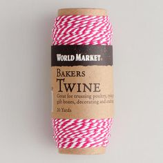 One of my favorite discoveries at WorldMarket.com: Pink Baker's Twine