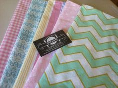Kids Cloth Napkins School Lunch Box, Set of 5, Eco Friendly, Pretty Pastels, by…
