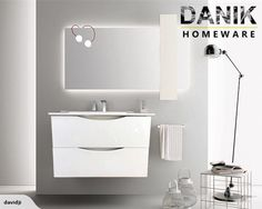 Vanity white wall hung 600mm 3 size!-[DANIK] | Trade Me
