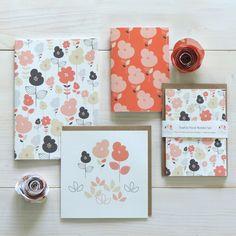 Sophia Floral Stationery Gift Set by ElleJaneDesigns on Etsy