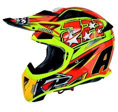 2013 Airoh Aviator Motocross Helmet - 222 Replica Flo Orange - 2013 Airoh Motocross Helmets - 2013 Motocross Gear - by Airoh