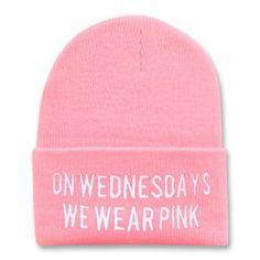 On Wednesdays We Wear Pink Beanie yourfashionista,http://www.amazon.com/dp/B00GIP535S/ref=cm_sw_r_pi_dp_nsVXsb1H90B40D9H