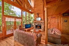Majestic View - To get into the Brothers Cove Log Cabin Mountain Resort you drive through a covered bridge and by beautiful country scenery such as split rail fences, rustic log cabins and gurgling creeks - even a Swimming Pool!