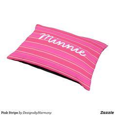 Pink Stripe Pet Bed