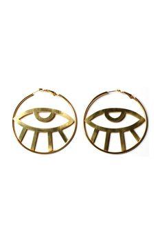 Third Eye Hoop Earrings
