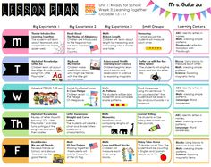 Teacher Week When Thursday Lesson Plan Format Teachers Week - Early childhood education lesson plan template