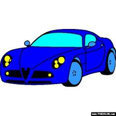 alfa romeo 8c competizione 2007 coloring page