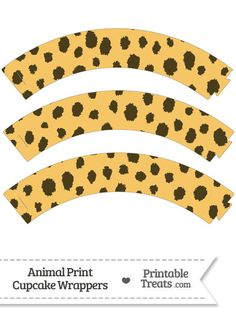 Cheetah Print Cupcake Wrappers from PrintableTreats.com